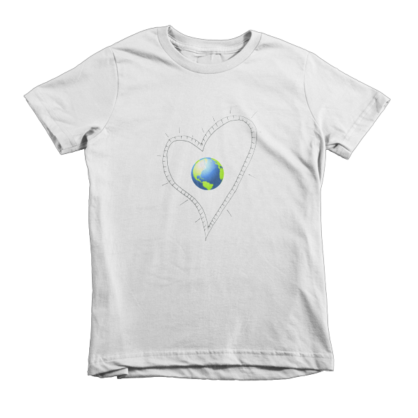 Trust Love  Earth Heart kids t-shirt - Finnigan Note - 2