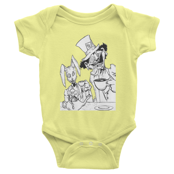 Tea Party Infant Short Sleeve One-Piece - Finnigan Note - 7