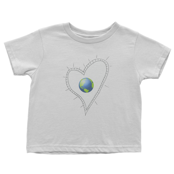 Trust Love Earth Heart Infant short sleeve t-shirt - Finnigan Note - 1