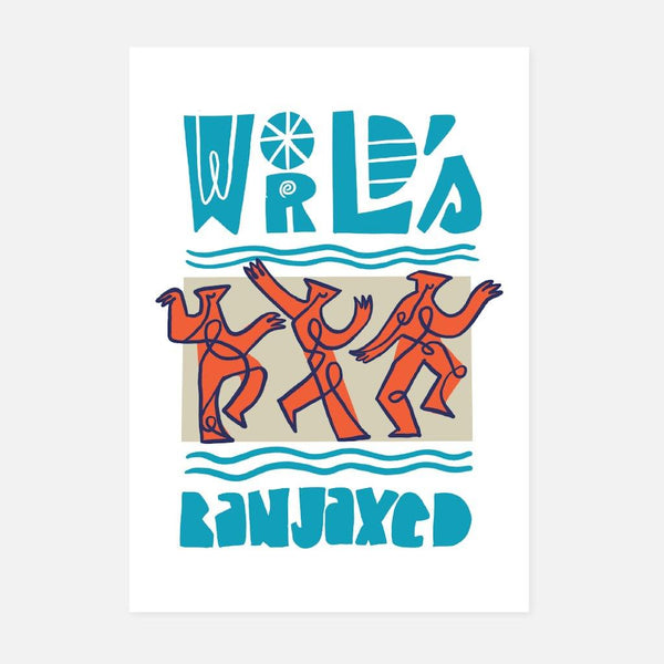 Ashwin Chacko,World's Banjaxed,fierce-nice,Giclée