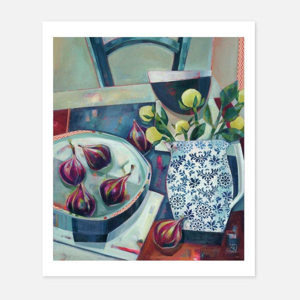 Liza Kavanagh,Blue Morning Table,fierce-nice,Giclée