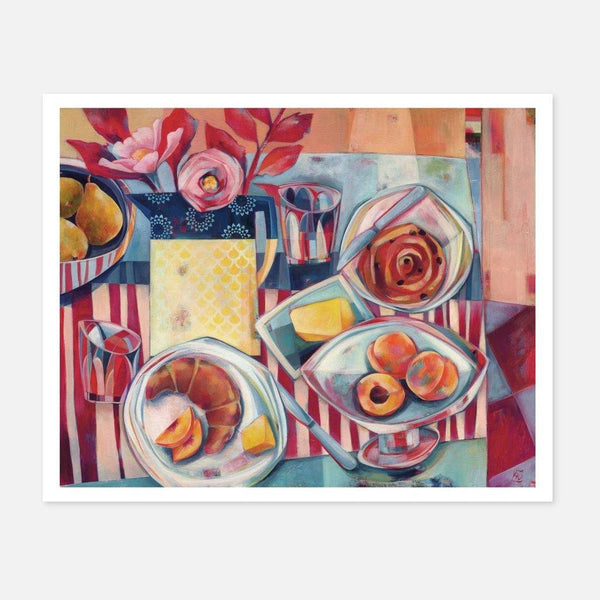 Liza Kavanagh,Breakfast Table, St. Bressou,fierce-nice,Giclée