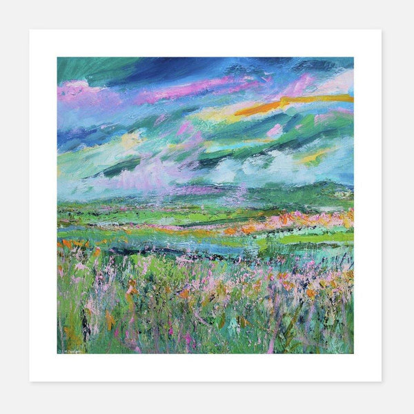 Martina Furlong,The View From the Hill in Summer,fierce-nice,Giclée