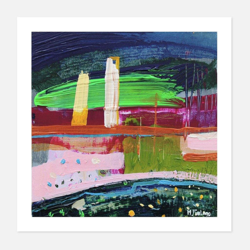 Martina Furlong - In Pink Green and Blue - fierce-nice - Giclée