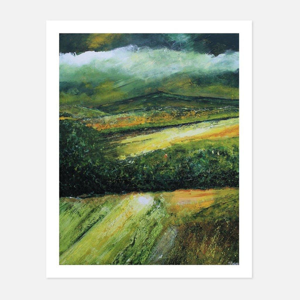 Martina Furlong - The Hill on a Cloudy Day II - fierce-nice - Giclée