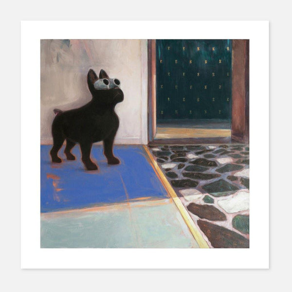 Ross Cunningham,Buster on the Blue Carpet,fierce-nice,Giclée.