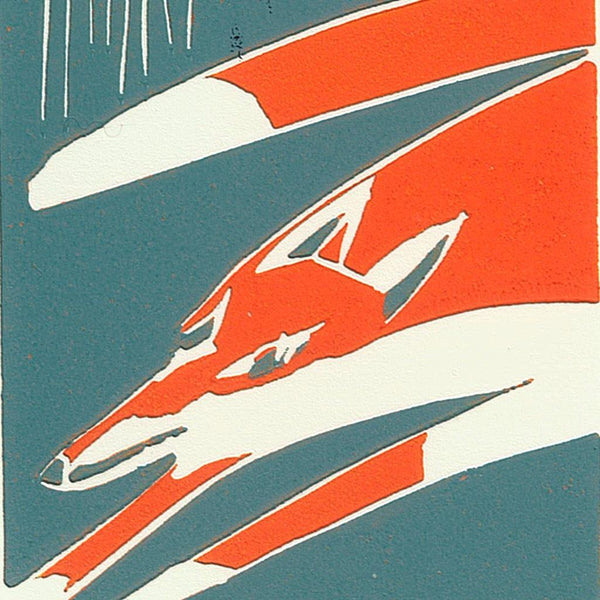 Sheelyn Browne,Running Fox,fierce-nice,Giclée