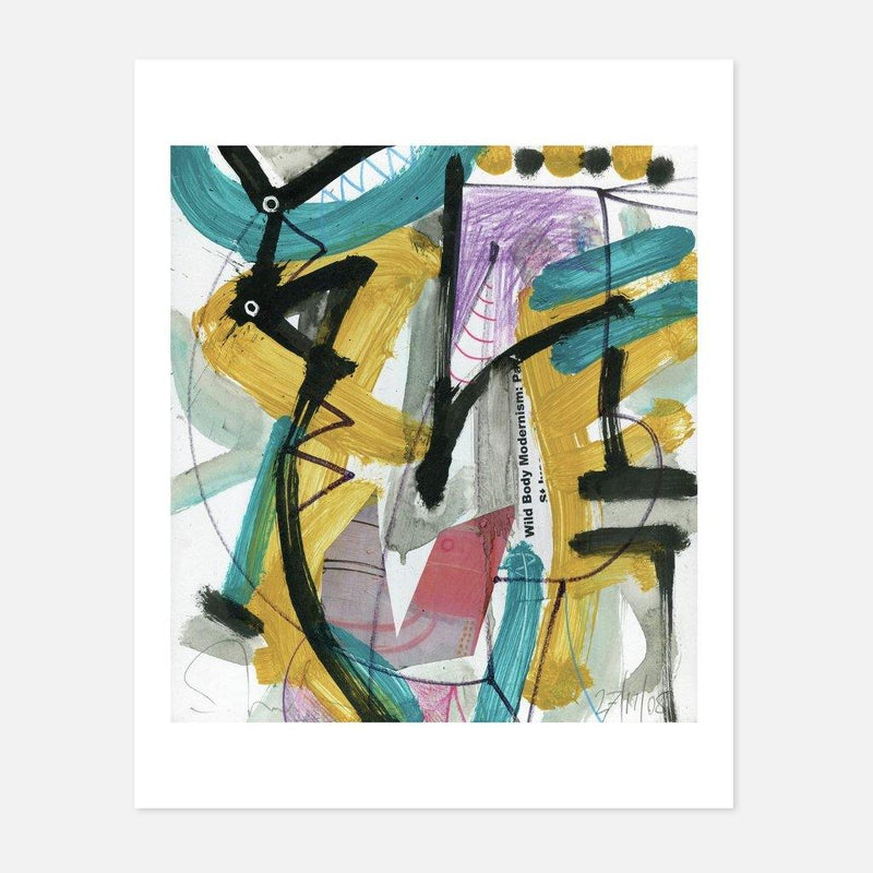 Tony Shiels - Critical Head - fierce-nice - Giclée
