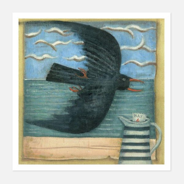 William Gilchrist - A Chough Called Errol - fierce-nice - Giclée