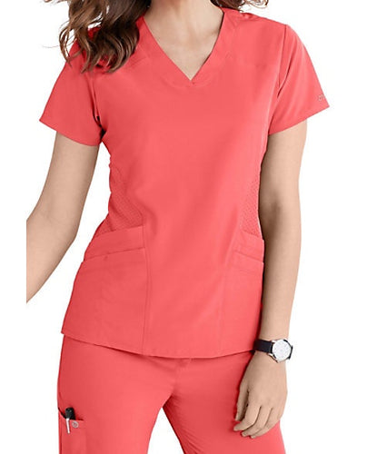 (5106) BARCO ONE 4 Pocket V Neck Top