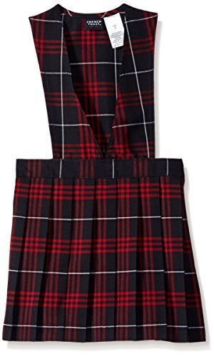 GIRLS PLAID V-NECK JUMPER SIZE 4-8