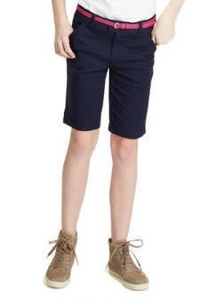 GIRLS NAVY BERMUDA SHORT