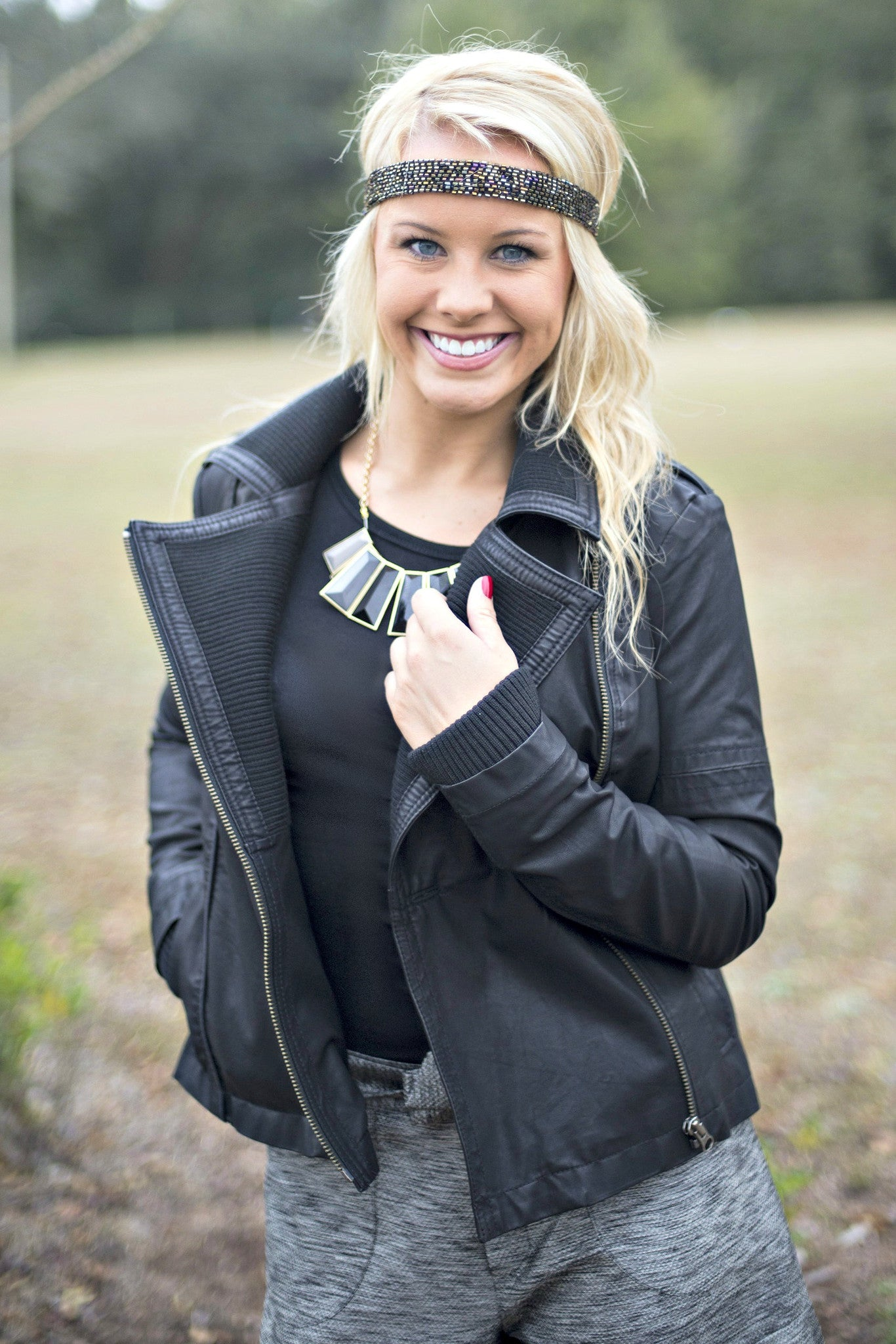 Free People: Carly Jacket, Black
