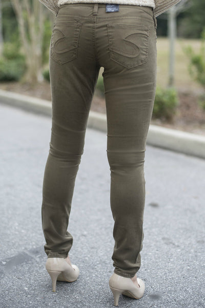 Silver Jeans: Aiko Skinny, Bronze