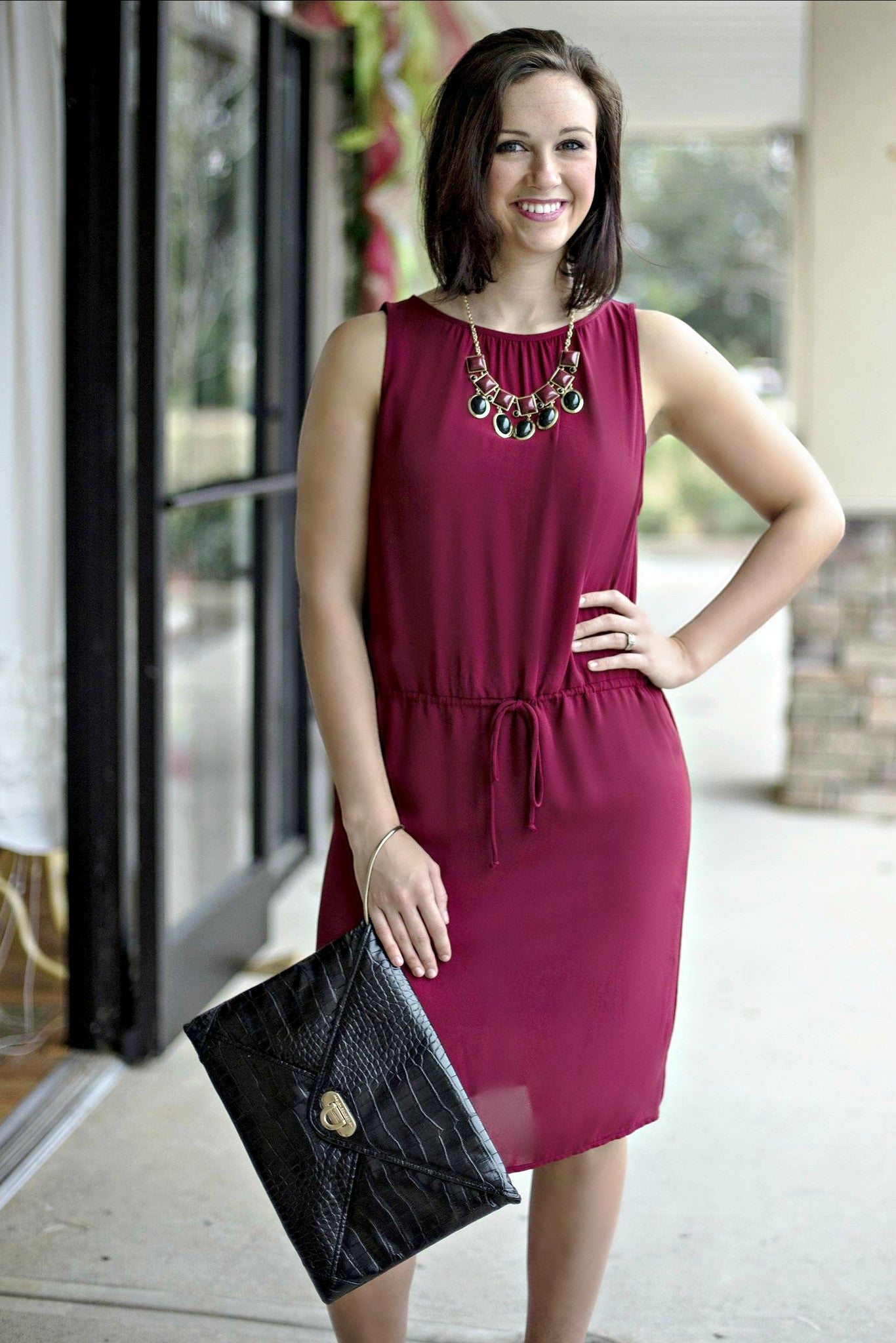 Glam: Christmas Dress, Burgundy