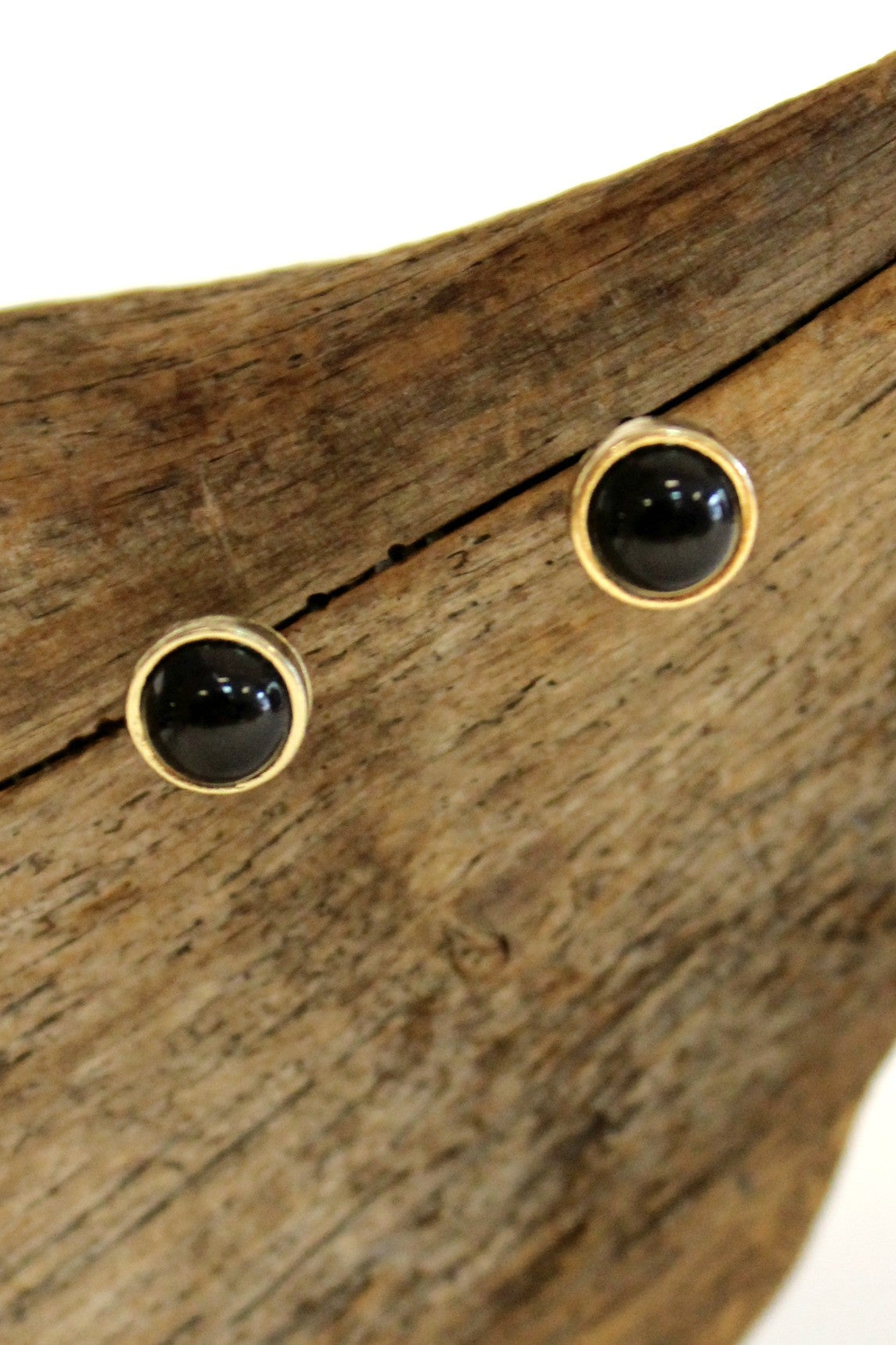 Classic Stud Earrings, Black