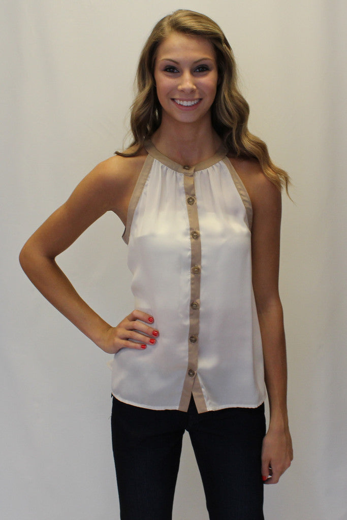 Kensie: Madison Chiffon Top, Ivory