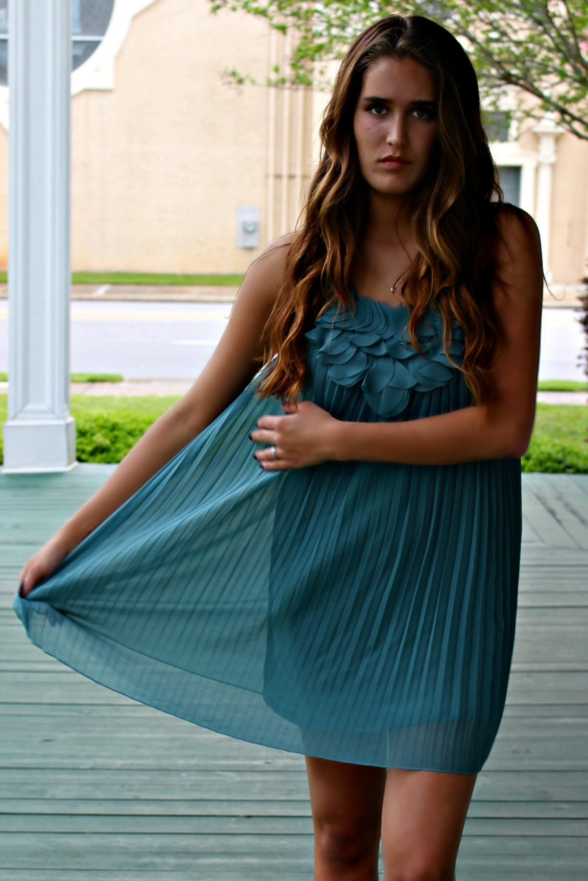 Sadie Dress, Turquoise