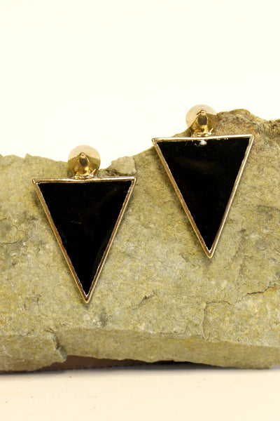Dynamic Shield Earrings, Black