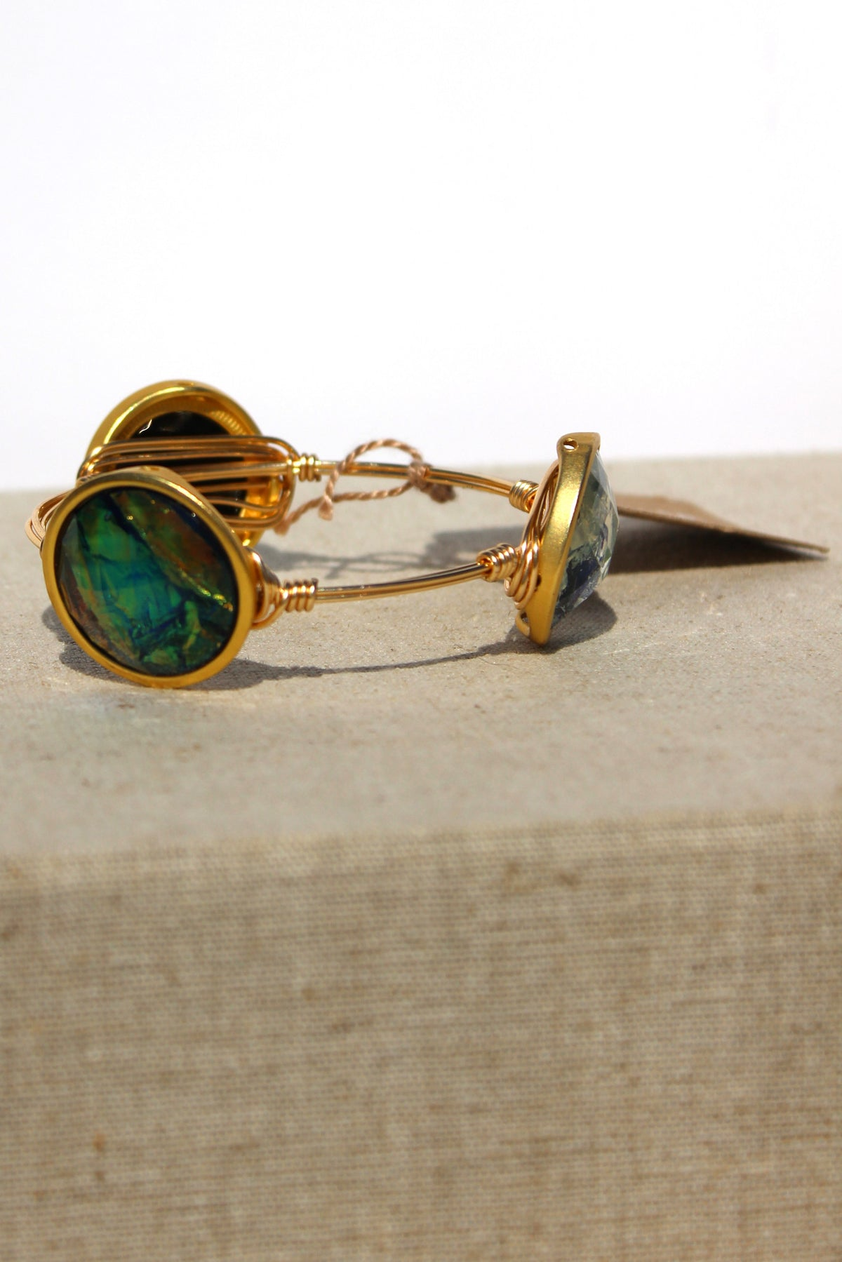 Iridescent Bangle, Green