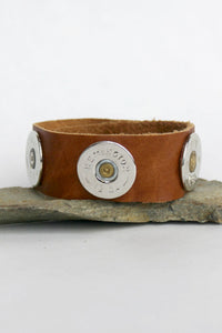Lizzy J's Shotgun Shell Bracelet, Brown