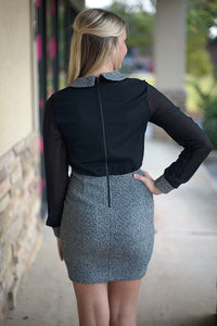 Nikki Dress, Black/Gray