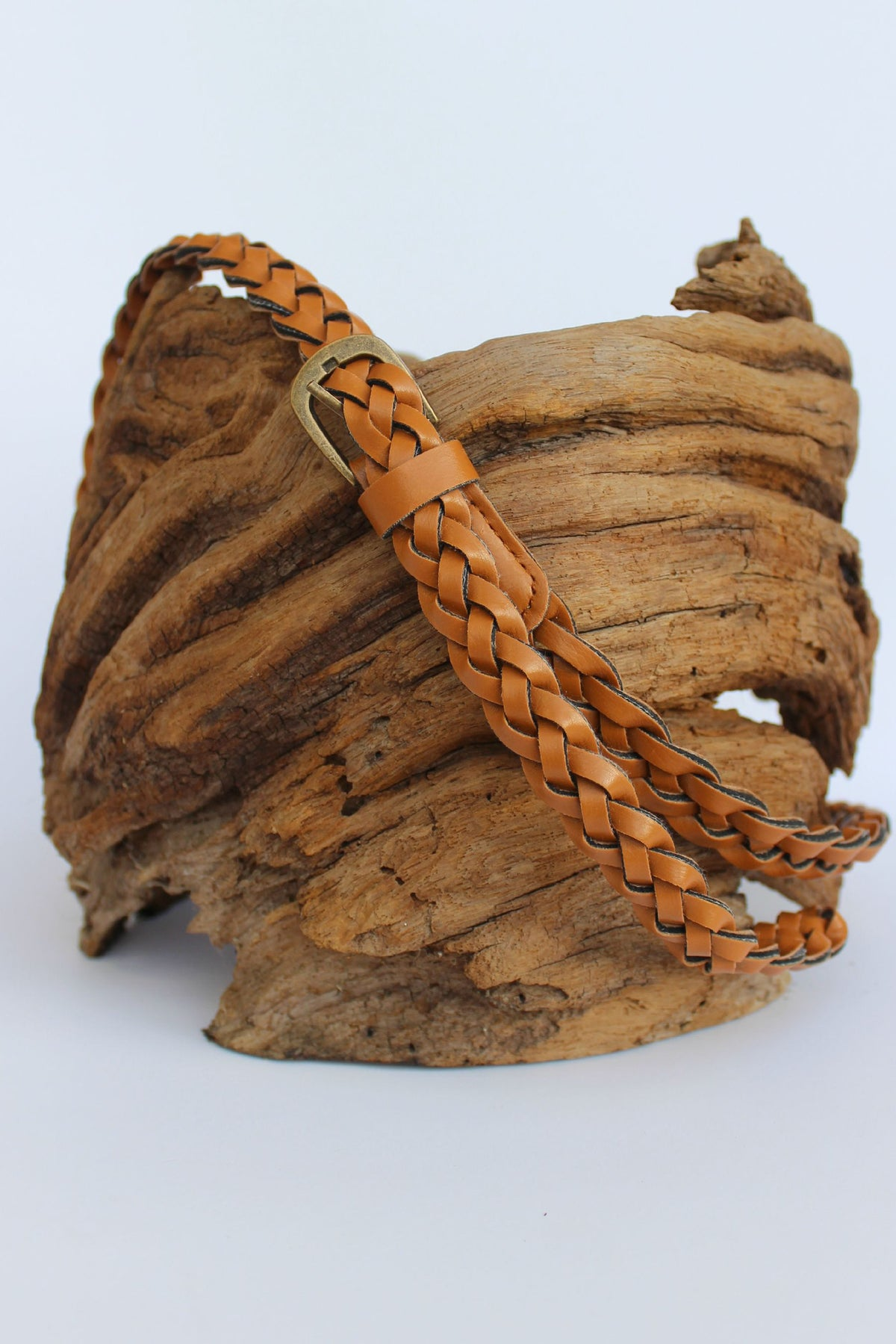 Braided Belt, Camel
