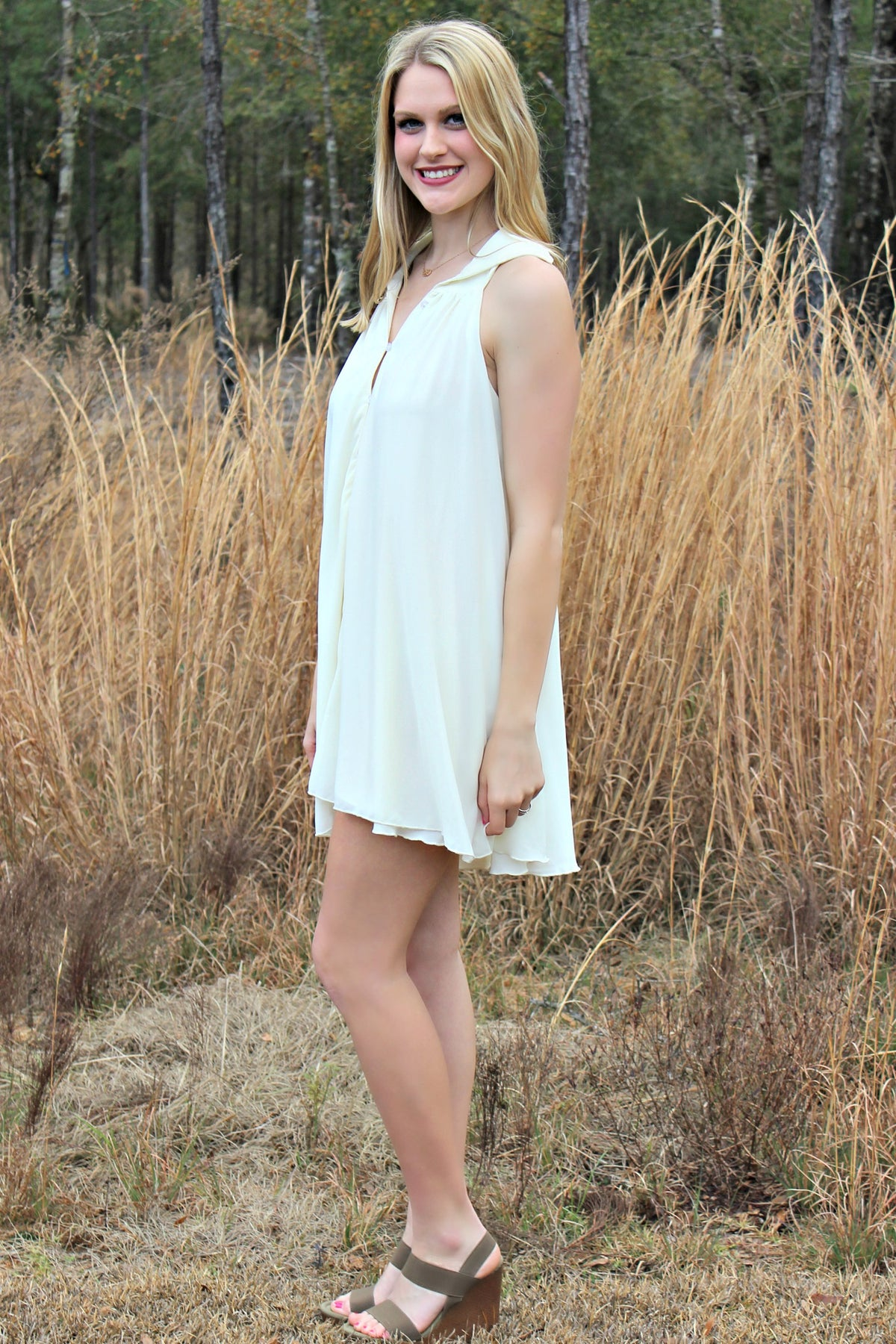 Mink Pink: Joyce Dress, Ivory