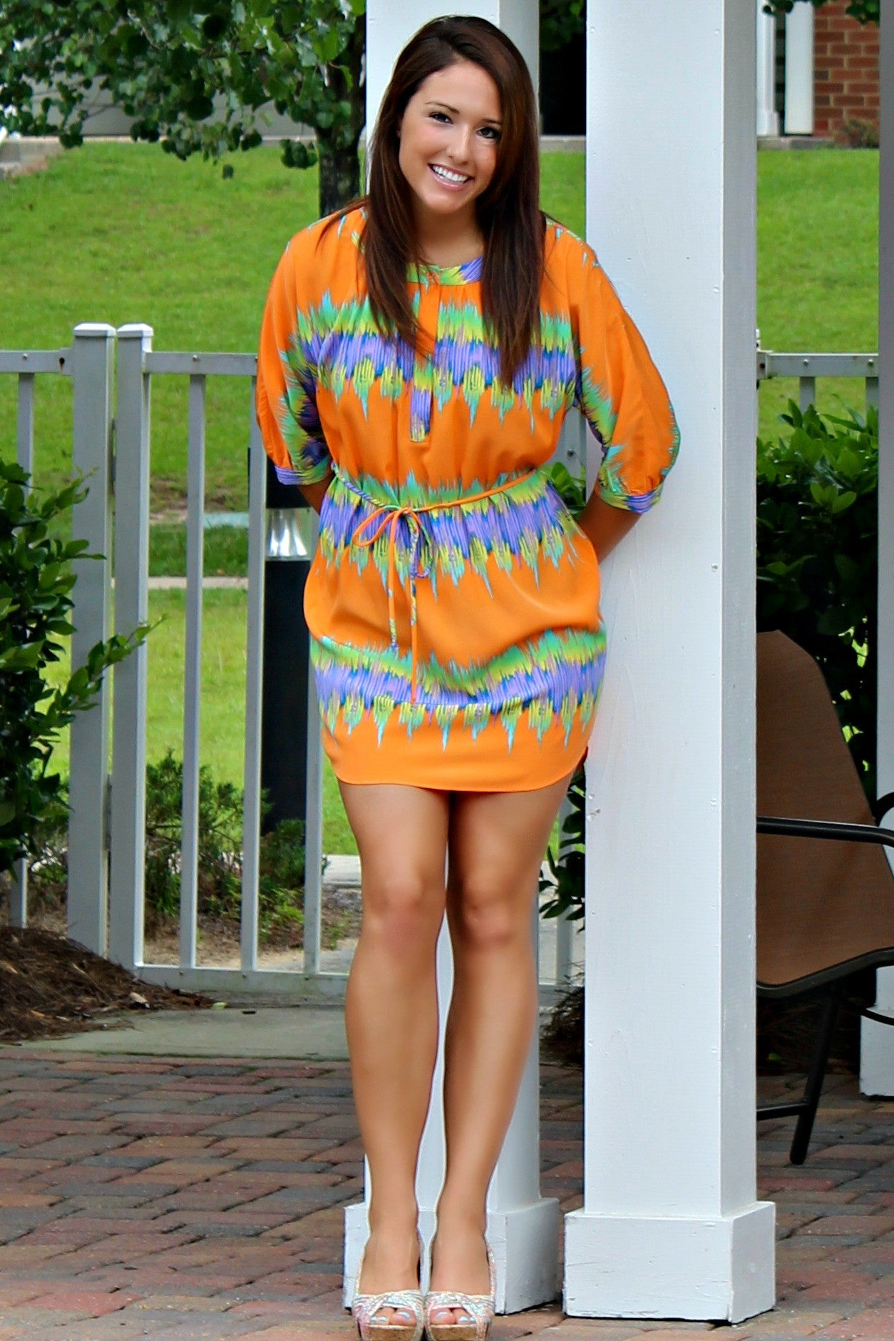 Glam: Tracey Dress, Orange