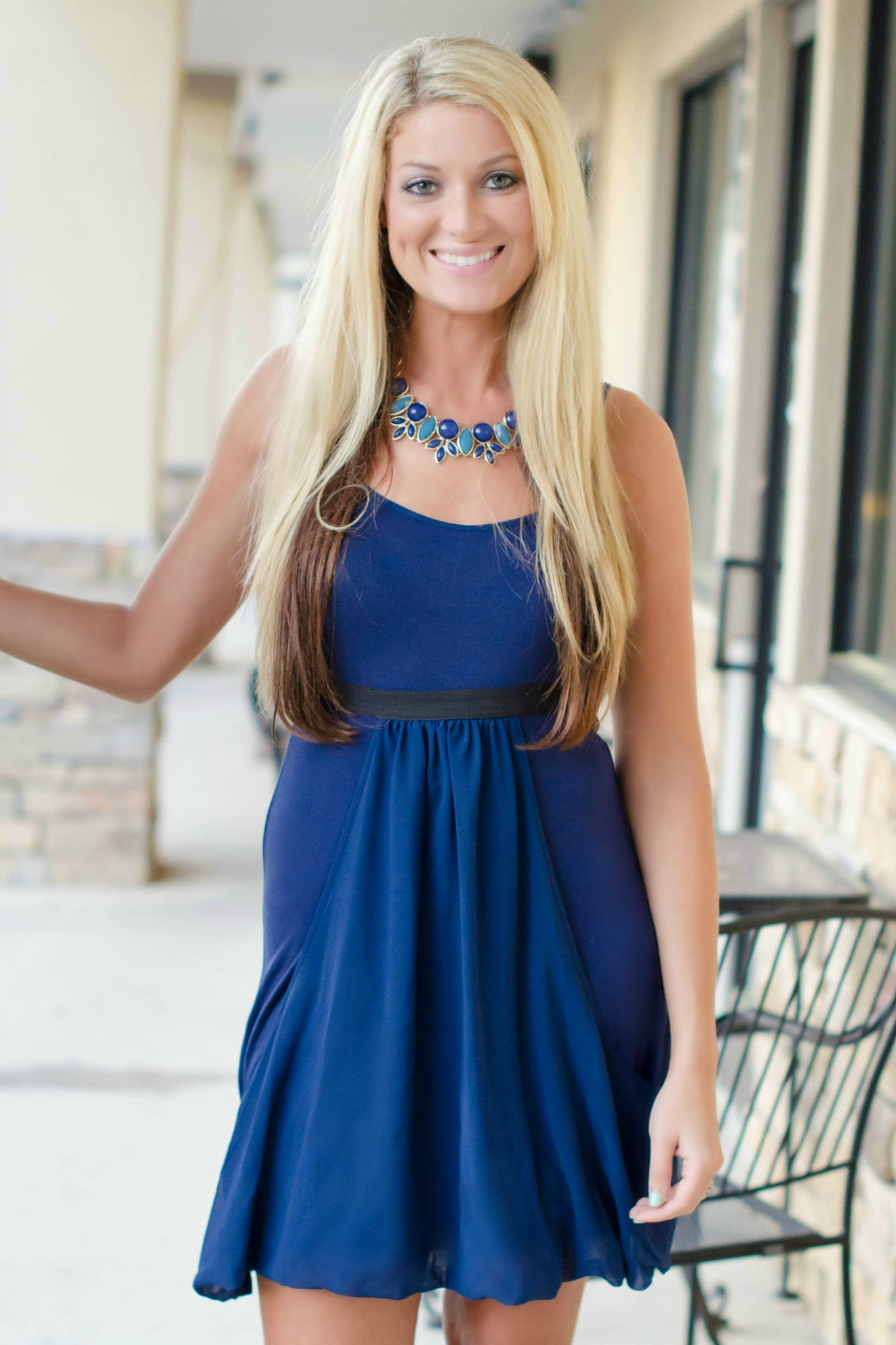 Kensie: Viscose Dress, Navy