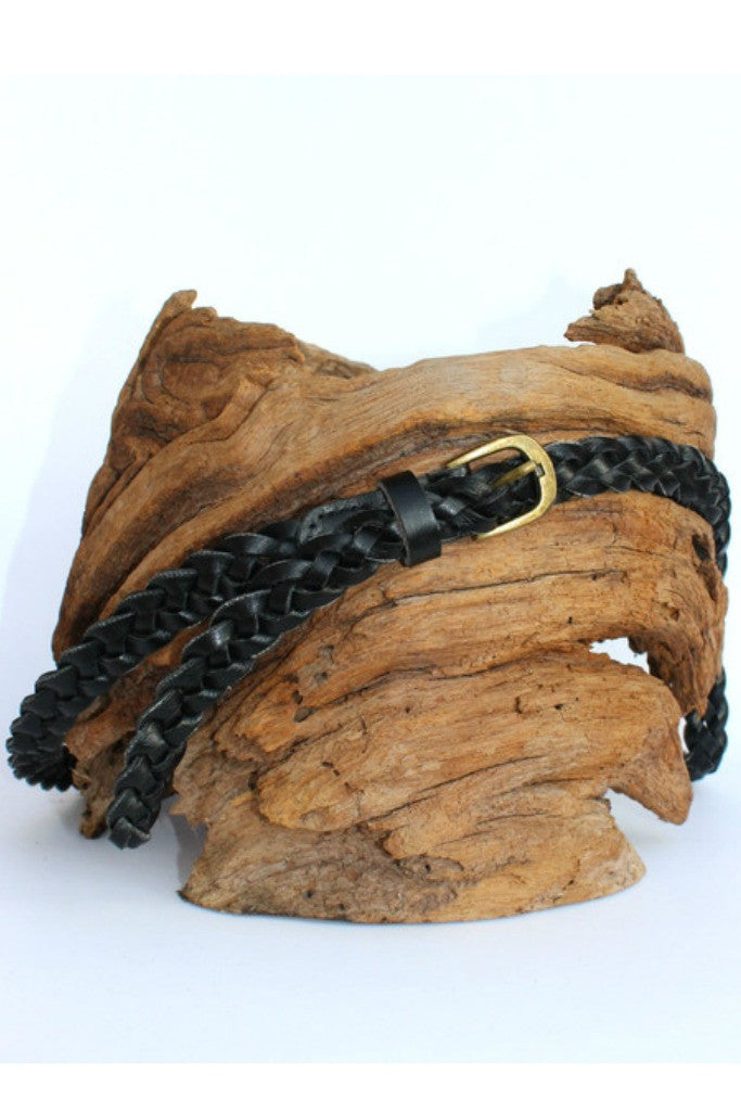 Braided Belt, Black