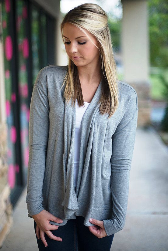 Kensie: Hailey Cardigan, Gray