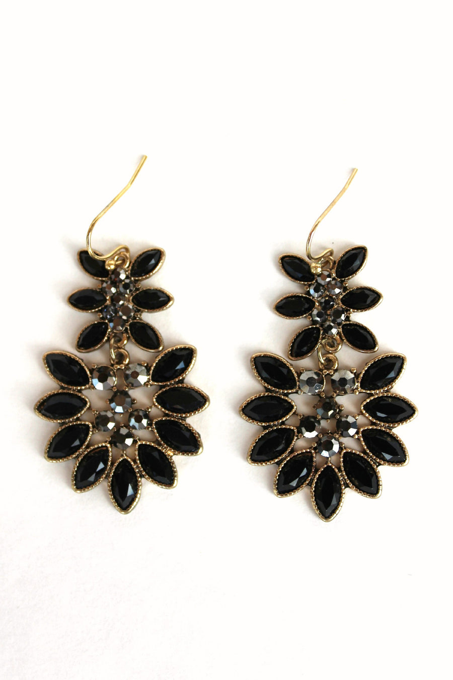 Marquise Earrings, Black