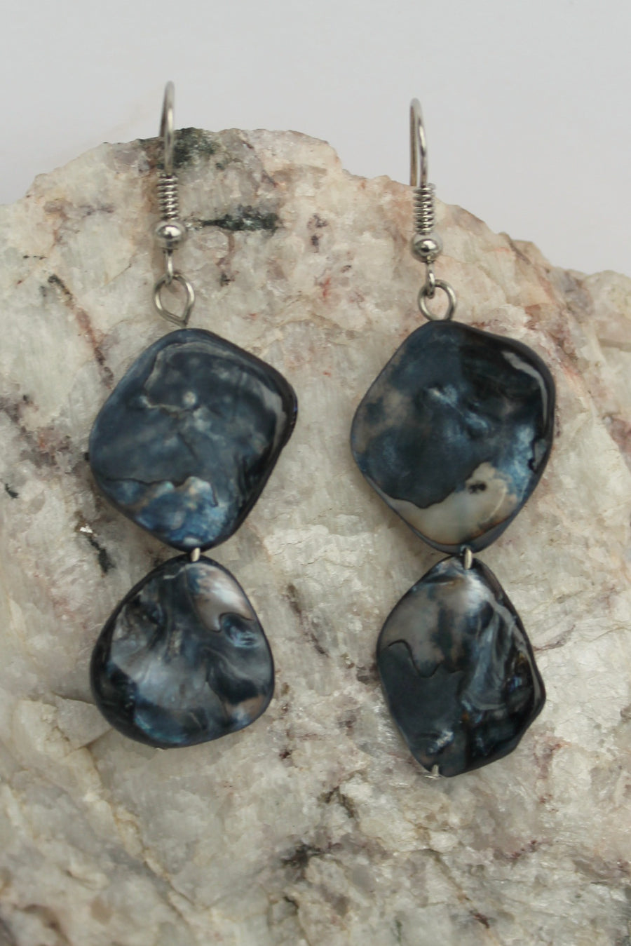 Mother of Pearl Earrings, Black