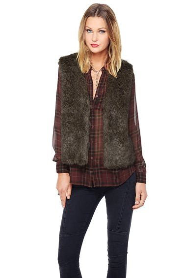 Jack by B.B. Dakota: Briseida Vest, Brown/Black