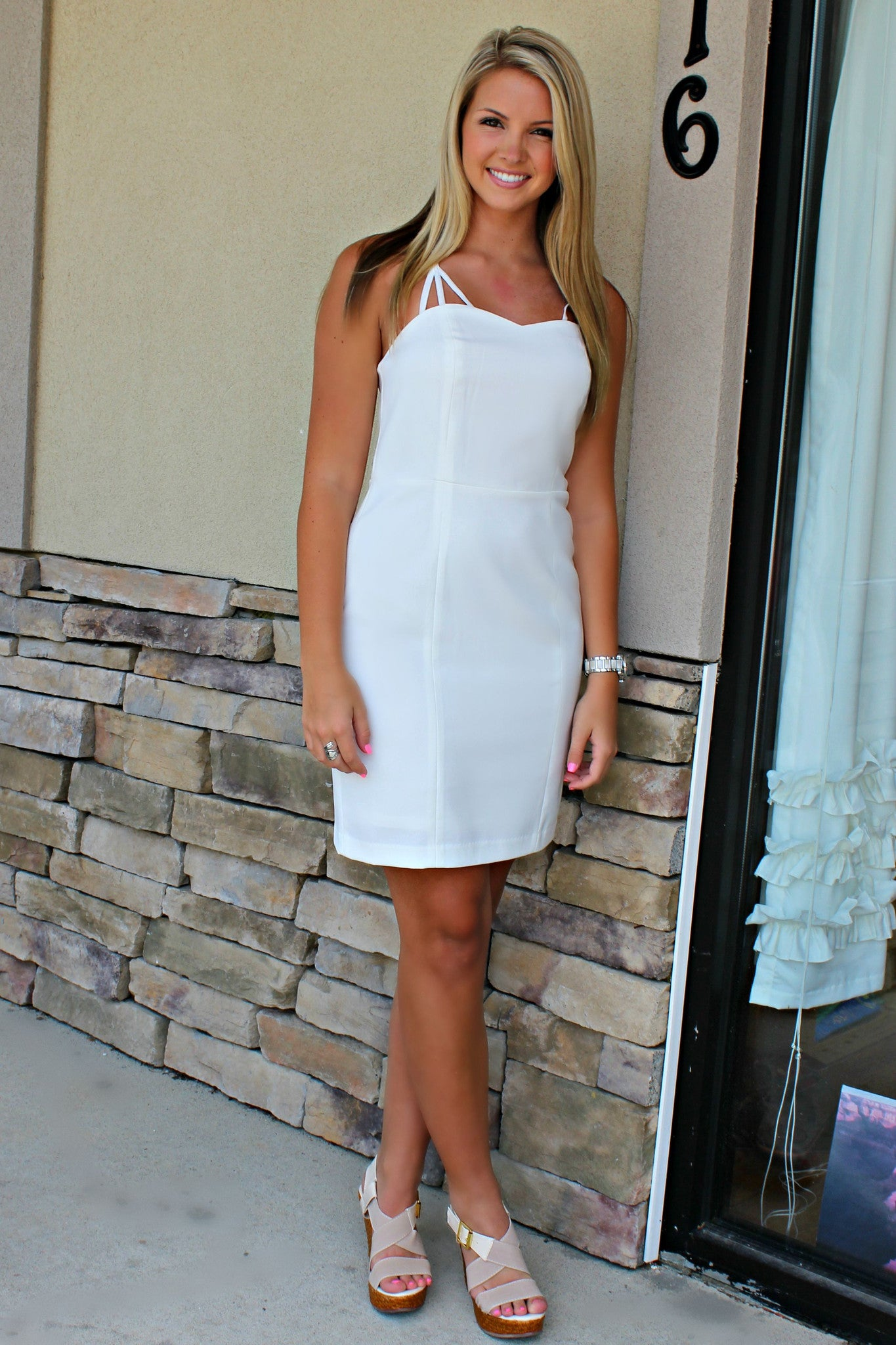Suzi Dress, White