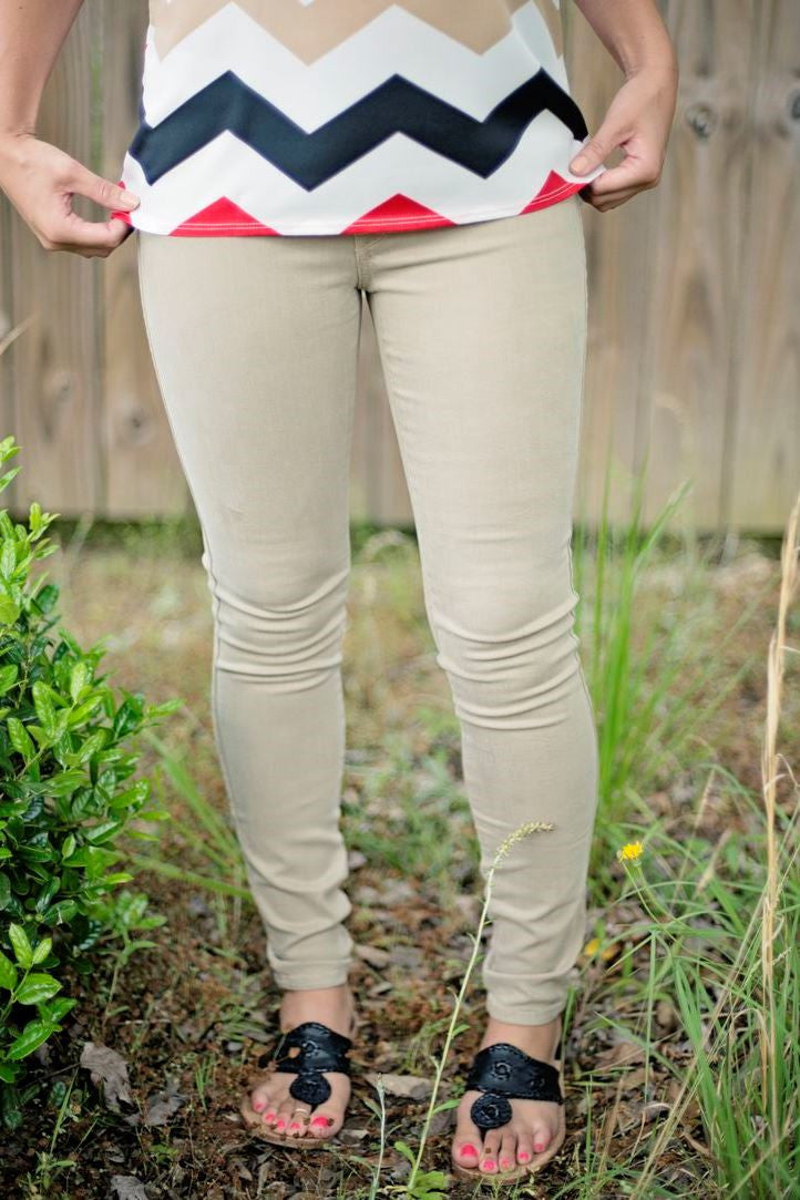 Rich & Skinny: Legacy Jeans, Taupe
