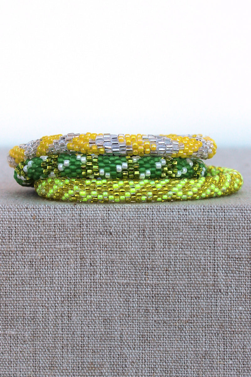 Lily and Laura: Bracelet Set, Lime