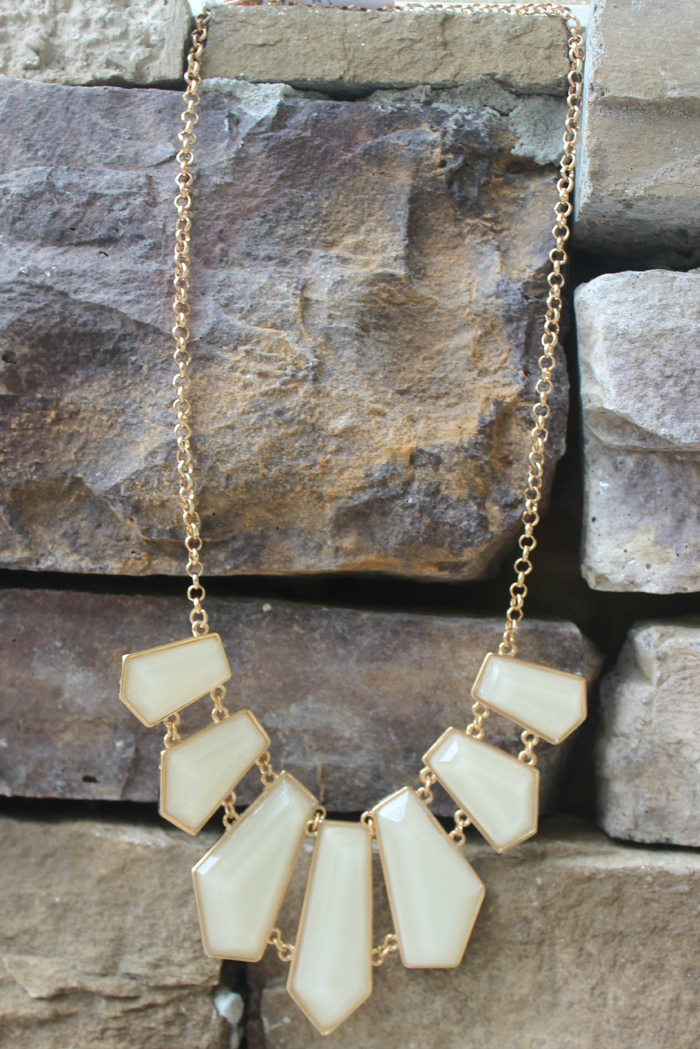 Geometric Necklace, Ivory