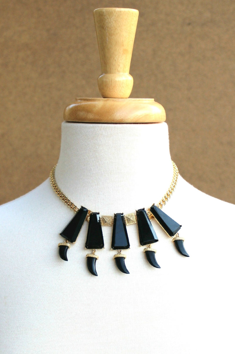 Horn Necklace, Black