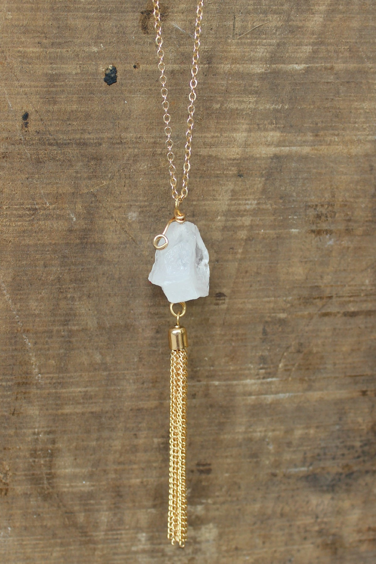 Stone Necklace, White