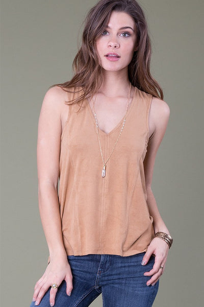 Lock and Key Top, Camel