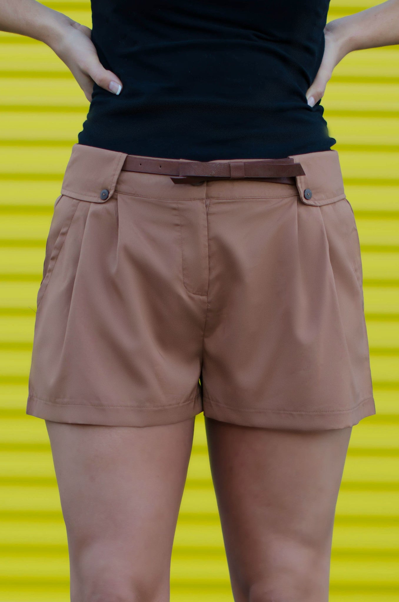Kerra Shorts, Brown
