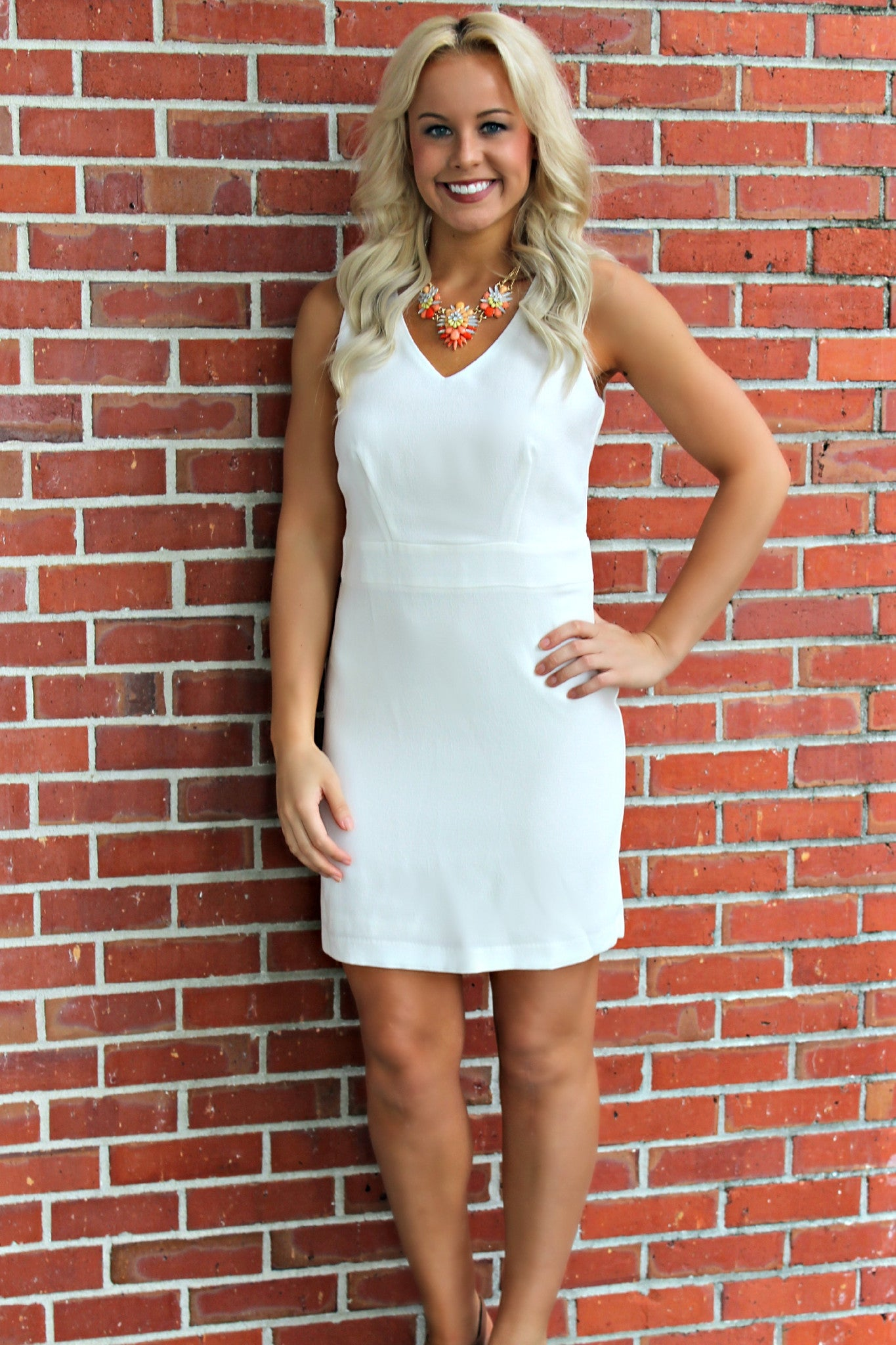 Stella Dress, White