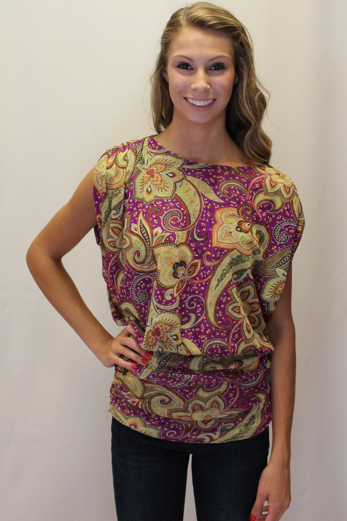 Sweet Pea: Linda Top, Purple