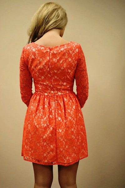French Connection: Lizzy Dress, Red