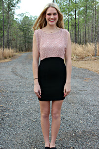 French Connection: Melissa Dress, Pink/Black