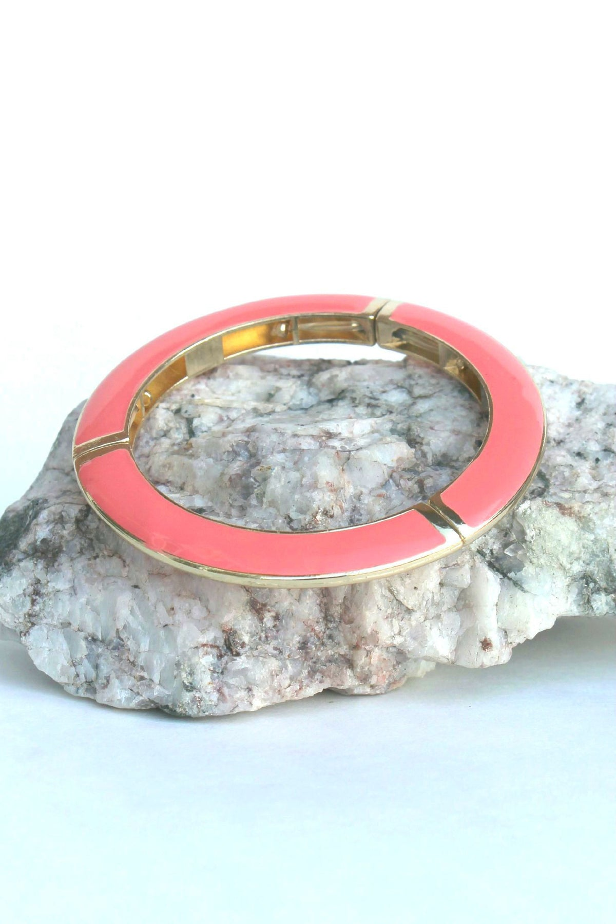Triple Sectioned Bracelet, Coral