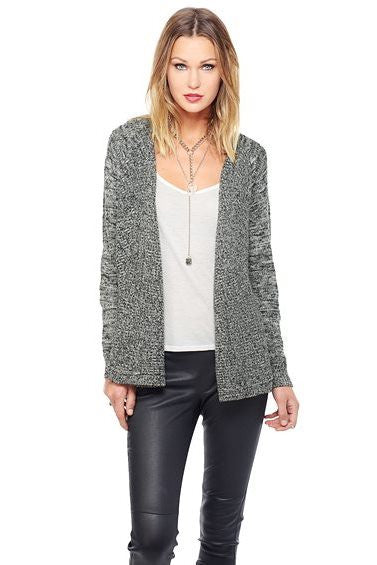 Jack by BB Dakota: Callista Cardigan, Black/White