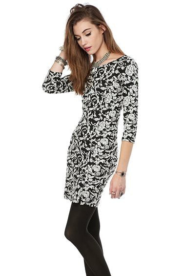 Jack by BB Dakota: Melina Dress, Black/White